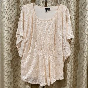 Cream New Directions Lace Blouse Sz 2X